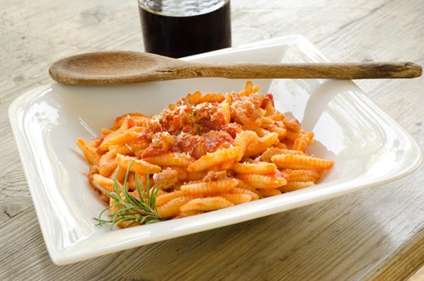 Malloreddus alla Campidanese – piatto tipico della Sardegna meridionale<br /><br /><br /><br /><br />